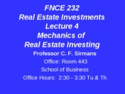 Lecture+4+FNCE+232+Mechanics+of+Investing