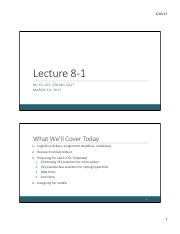 Lecture 8-1