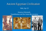 Apr 23 Amarna aftermath Tut