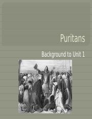 Puritans background