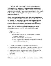 RETAILING CHAPTER 2 – Relationship Retailing.docx
