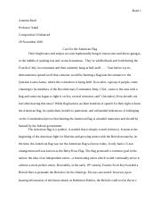 Care for the American Flag Essay New.docx