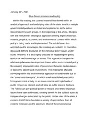 Blue-Green province Essay