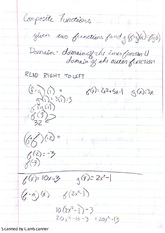 Notes on Composite Functions