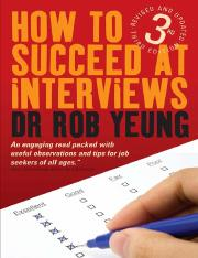 How To Succeed At Interviews Includes Over 200 Interview Questions