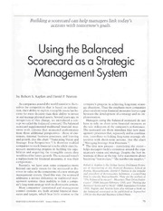 11_BackgroundReading_UsingTheBalancedScorecard_KaplanNorton