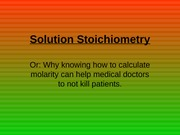 Solution Stoichiometry-1