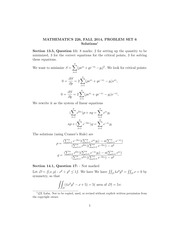MATH 226 Fall 2014 Problem Set 6 Solutions