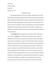 Group presentation paper