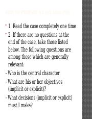 How to prepare a Case Analysis