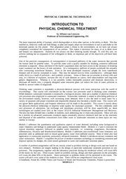 Introduction Physchem