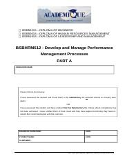 PART A Dev and Mnge Perf Mgmt Procs 1.docx