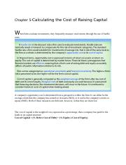 Chapter 5-Calculating the Cost of Raising Capital