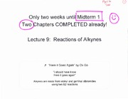 Lecture 9 on Organic Chemistry