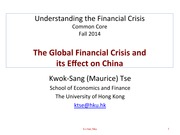 L9 How the Global Crisis Affects China v2014