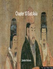 Chapter 10 East Asia