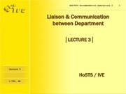L 3 -  Liaison  Communication between Department