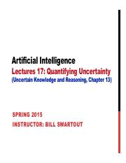 AI Spring 2015 Lecture 18