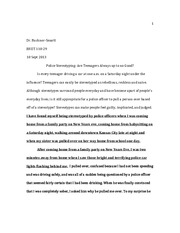 How to write a rhetorical analysis essay based on two stories about people being stereotyped.?