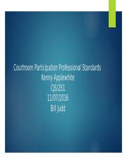 Courtroom Participation Professional Standards