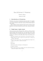Lecture 2: Production