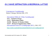 SSP-Ch2-DIFFRACTION & RECIPROCAL LATTICE