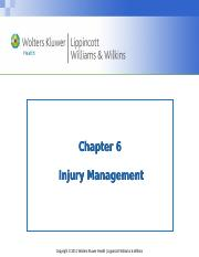 Chapter 6-Injury Management