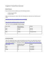 assignment 3 physical fitness assessment in Assignment 12 fitness assessment name: i get occasional physical activity at i verify that i did complete the fitness assessment as outlined in the.