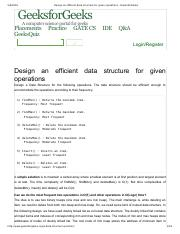 Design an efficient data structure for given operations - GeeksforGeeks