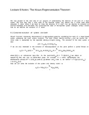 Lecture 8 Notes The Kraus Representation Theorem