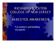 2014 MAIN CAMPUS- STOCKTON ASBESTOS AWARENESS