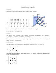 Quiz Anisotropic Properties