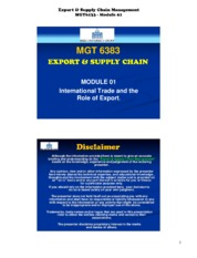 export and supply chain management