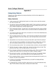 Categorizing Fallacies Appendix C]