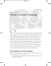 Critical Thinking Involves