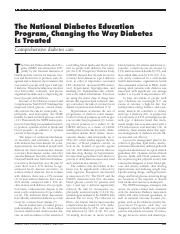 The National Diabetes Education Program, Changing the Way Diabetes is Treated.pdf