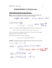 6.1 Inner Products, Angle, Orthogonality, Inner Product Spaces, Orthogonal Complement, Equivalence T