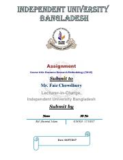 BRM-Take Home Assignment-Md Shamiul Islam-ID1731027.pdf