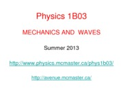 Physics 1B03-FirstClass-S2013-Ave [Compatibility Mode]