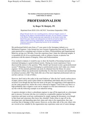 PROFESSIONALISM+by+Roger+M.+Boisjoily