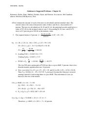 Solutions to Suggested Problems - Chapter 16