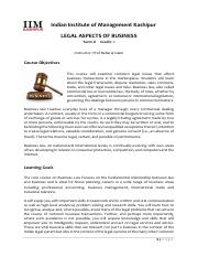 Legal Aspects of Business (2016-17)