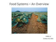 Food Systems - An Overview