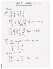 Homework 1 on Linear Algebra Fall 2014