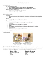 Ch.2- Planning a Healthy Diet