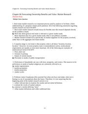 FIN 3351 Principles of Real Estate Ch. 6 Notes