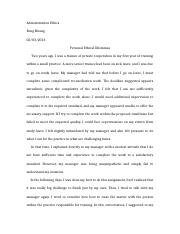 Administration Ethics-personal ethical dilemmas.docx