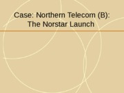 L 3 NPD process Case Northern Telecom