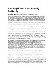 Zhuangzi And That Bloody Butterfly.docx