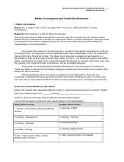 Media Convergence and Credibility Worksheet.doc